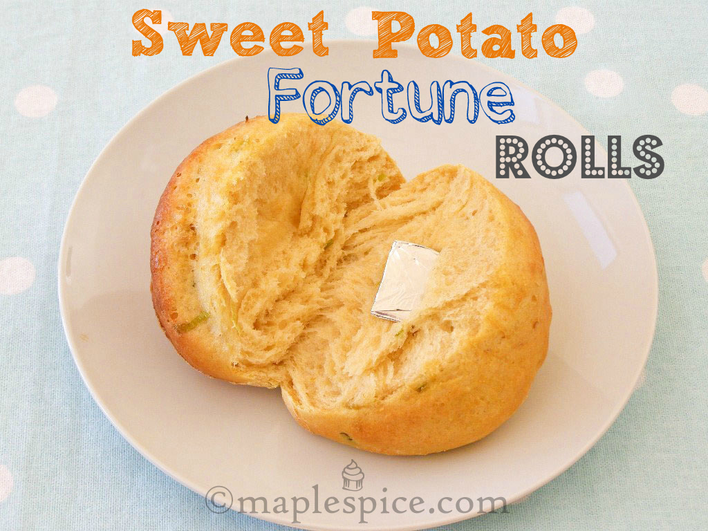 maple•spice: Sweet Potato Fortune Rolls