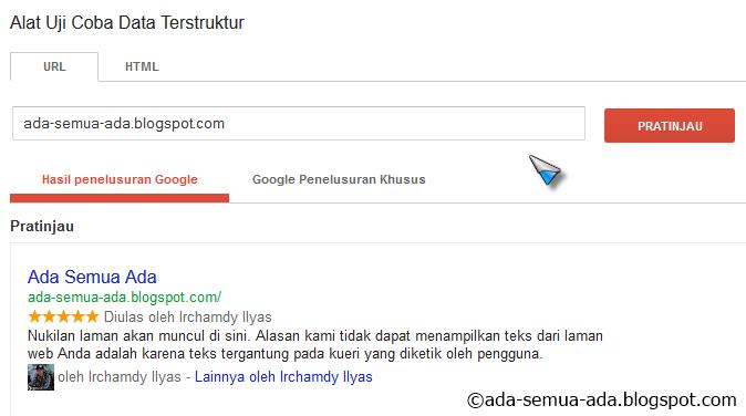 Cara menampilkan foto dan bintang blog di pencarian Google