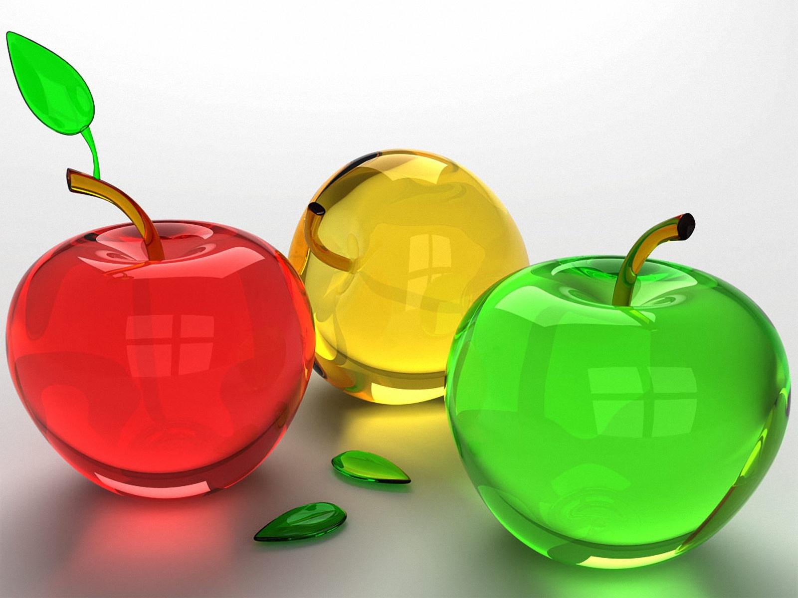 wallpapernarium Frutas de vidrio pero aun as se ven deliciosas