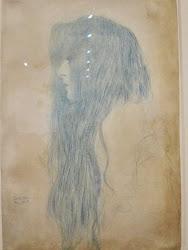Boceto de Chica del pelo largo