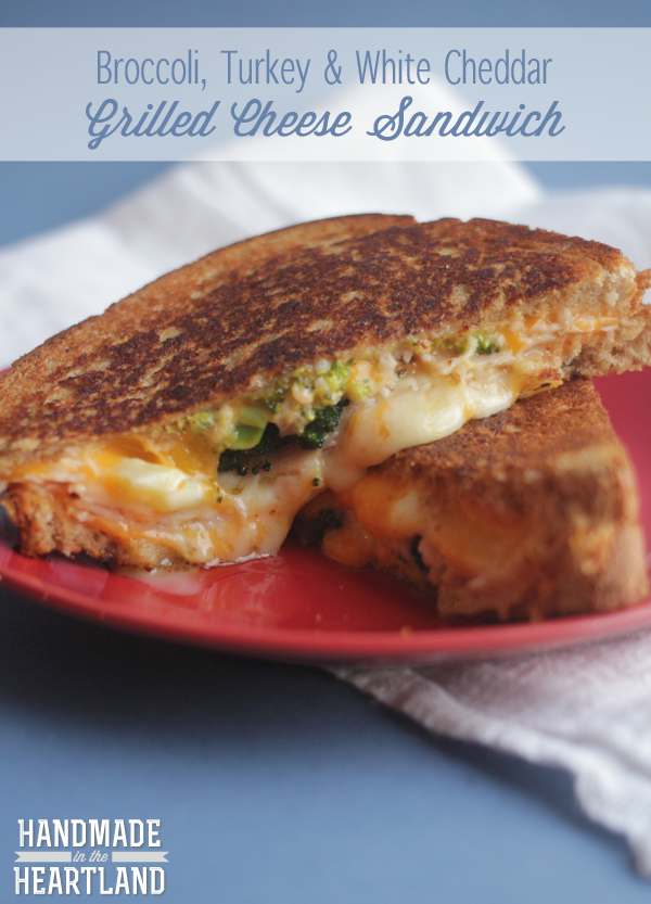 Broccoli, Turkey & White Cheddar Grilled Cheese Sandwich