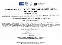 Certificação no CMDCA