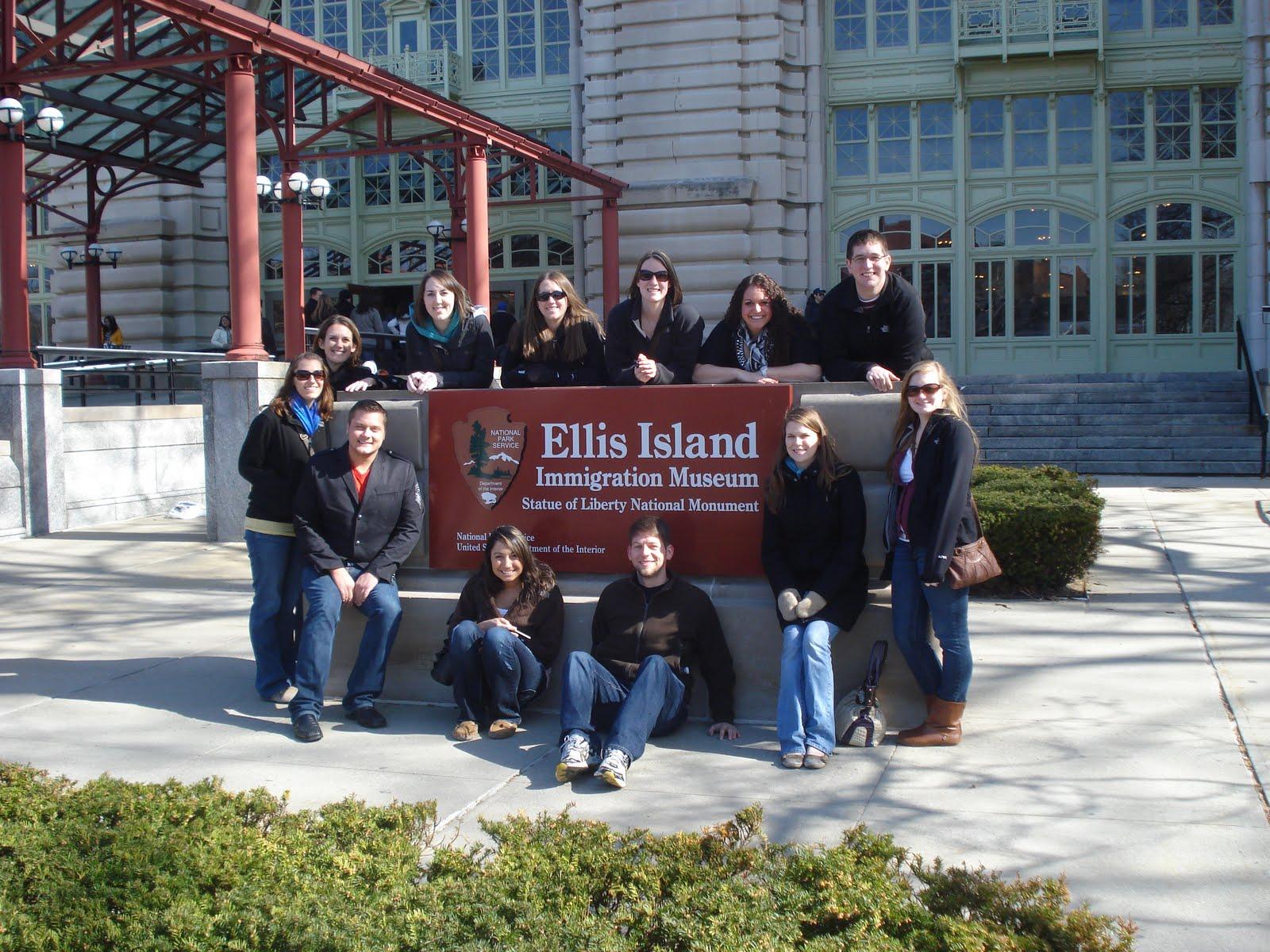 SHRM members at Ellis Island