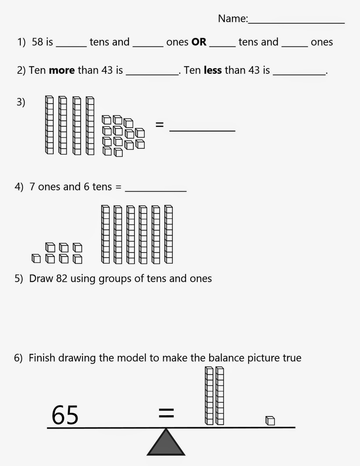 Worksheet Place Value Games First Grade mrs ts first grade class place value games more or less assessment to 100