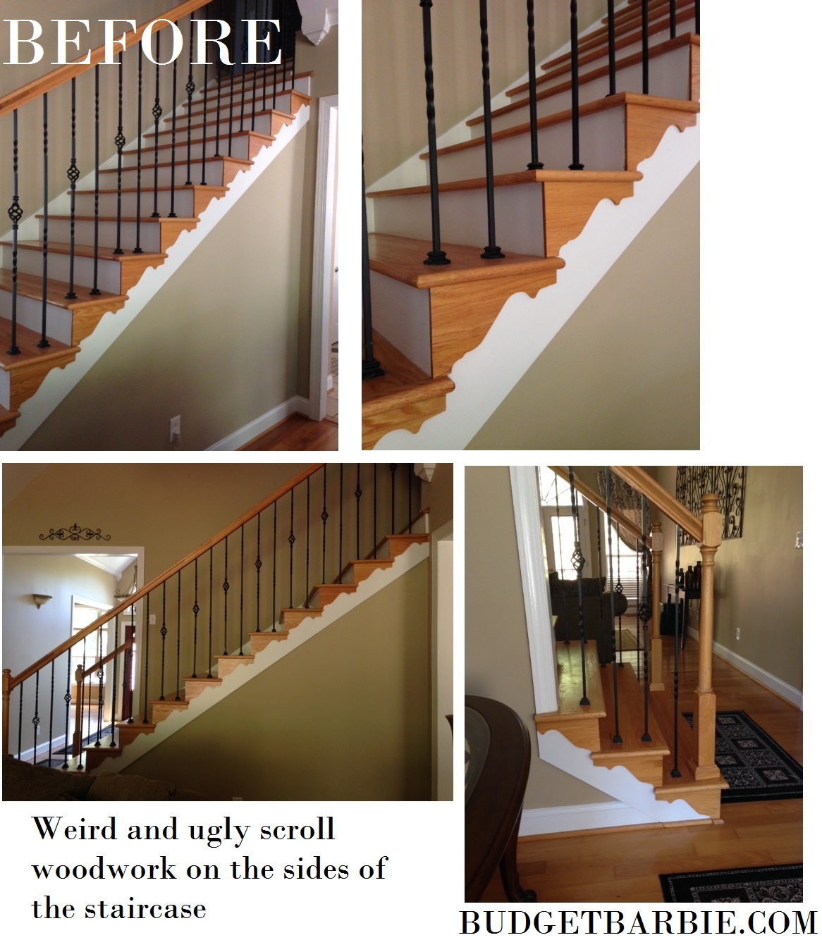 William S Woodworks Wood Stairs: Budget Barbie: The Next Project: Let It Begin! Removing