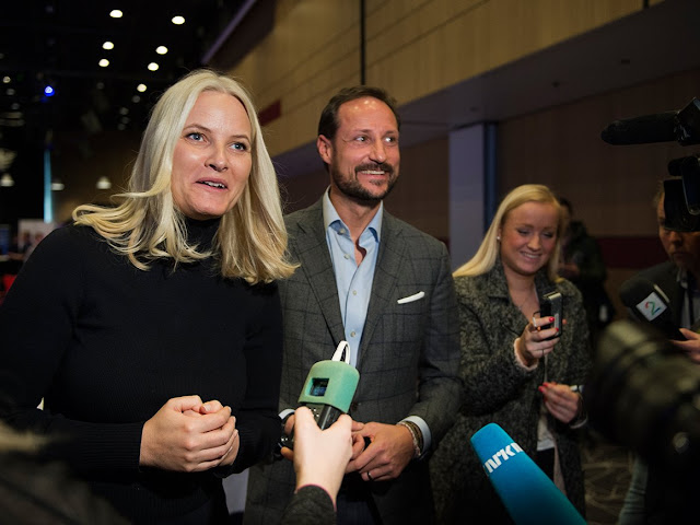"Crown Prince Haakon and Crown Princess Mette-Marit  attends the ""Pøbel seminar"" during the annual Pøbel conference in Stavanger."