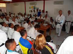 Nacional juvenil de karate do inició con curso de actualización para entrenadores y jueces