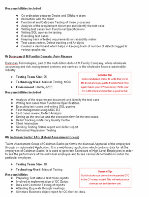 resume formatting. hot Above is a resume format