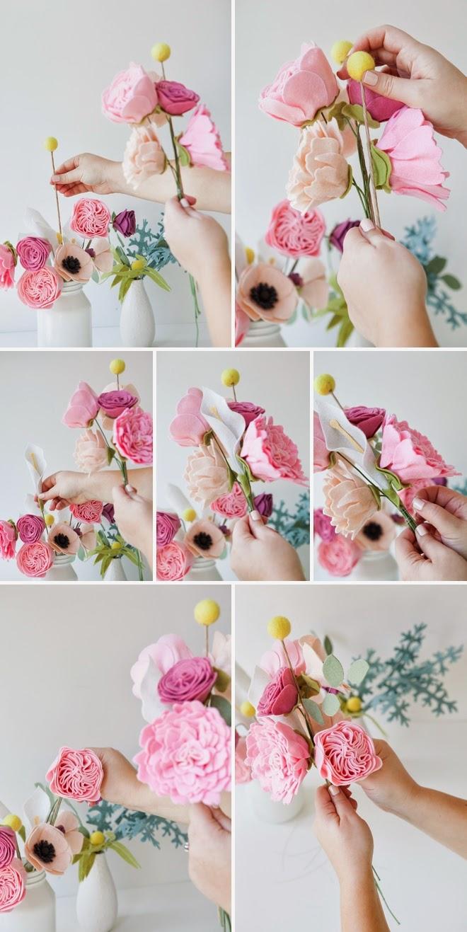 DIY: Felt Flower Wedding Bouquet | DIY Beauty and Ideas