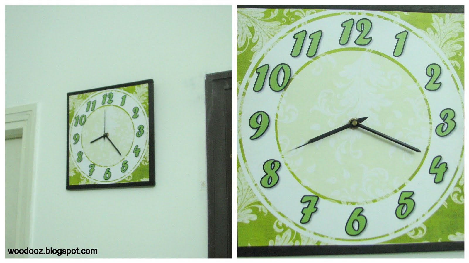 Wall Clock Design Template : Diy green wall clock with template indian woodworking