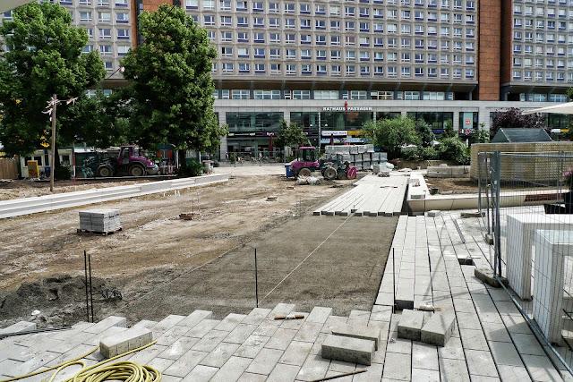 Baustelle Freiflächen am Fernsehturm, Alexanderplatz, 10178 Berlin, 14.06.2013