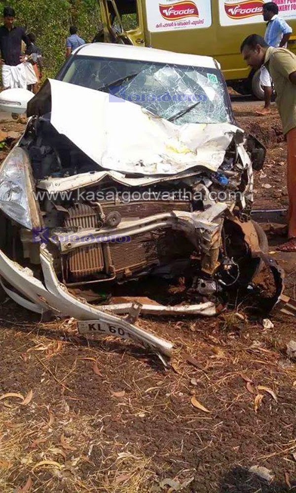 Kasaragod, Kerala, Car-Accident, Accident, cheemeni, Injured, hospital,