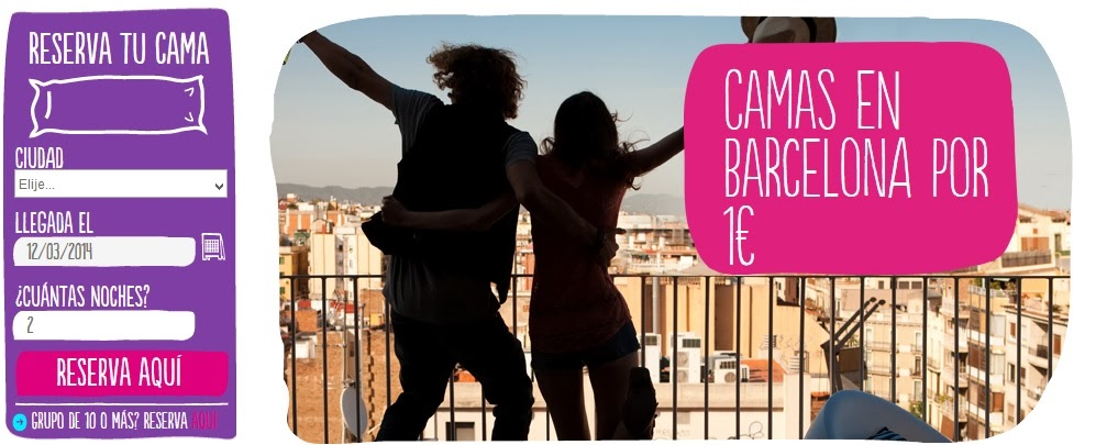 Hostels en Barcelona por 1 euro