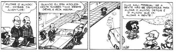 Mafalda (Quino) - mudar o mundo