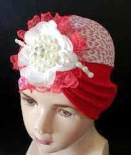 Model Turban Baby Motif Bunga