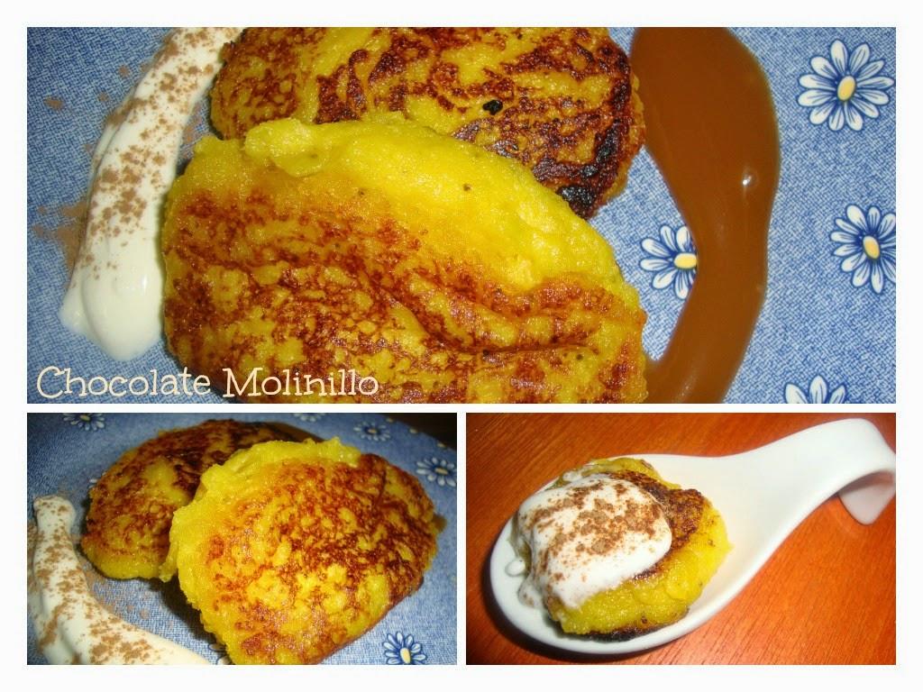 Tortitas de Plátano Macho rellenas de queso