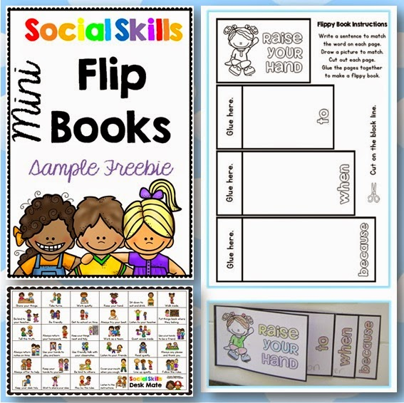 Social Skills Mini Flippy Book Sample Freebie Clever Classrom blog
