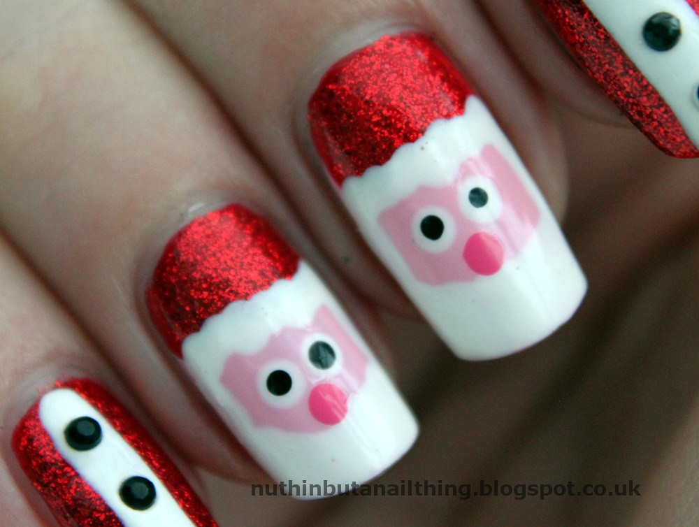 nuthin\' but a nail thing: Santa / Father Christmas Nails and Tutorial