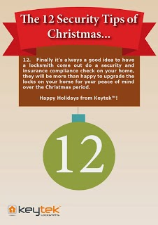 Keytek Locksmiths Tip 12 of The 12 Security Tips of Christmas security and insurance check