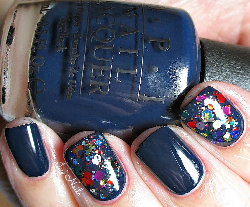 OPI Incognito in Sausalito and KB Shimmer Clown Puke