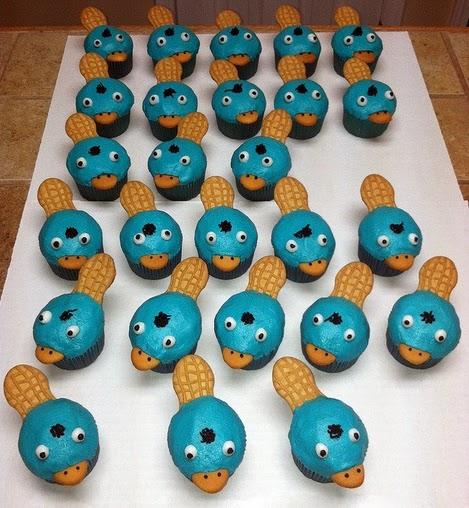MuyAmeno.com: Cupcakes de Phineas y Ferb, parte 1
