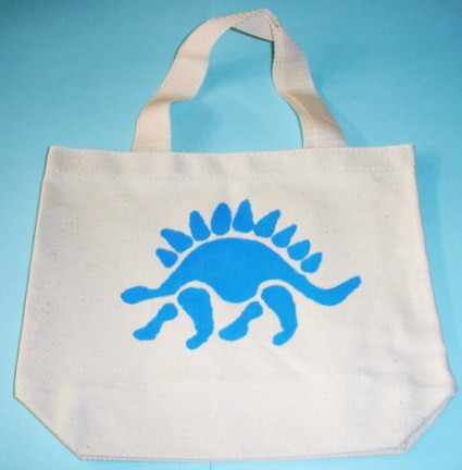 Learning ideas grades k 8 dinosaur craft books and song for Arts and crafts tote bags