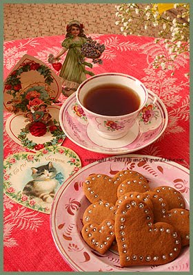 Gingerbread Cookies With A Pretty Lacy Edge Were Served For Valentineu0027s Tea.  The Small Heart Cookie Was Made Just For Viola. Some Of Dianeu0027s Favorite ...