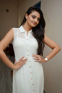 Actress Nikitha Narayan Picture Gallery in White Dress at Ladies and Gentleman Movie Press Meet 3.JPG