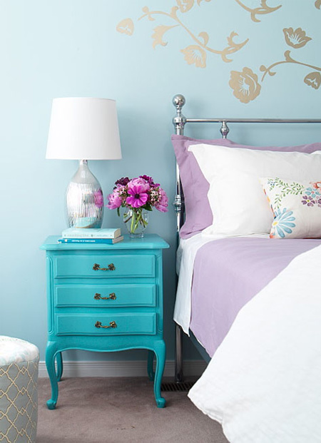 modernised living turquoise aqua touch of mint