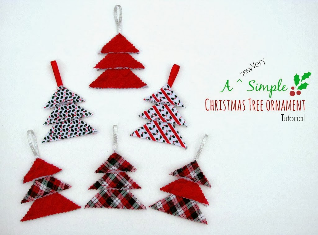 Sewvery a sewvery simple christmas tree ornament tutorial for Simple christmas decorations to make