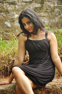 Telugu Actress Swathi Deekshith Latest Picture Gallery in Black Short Dress  0006