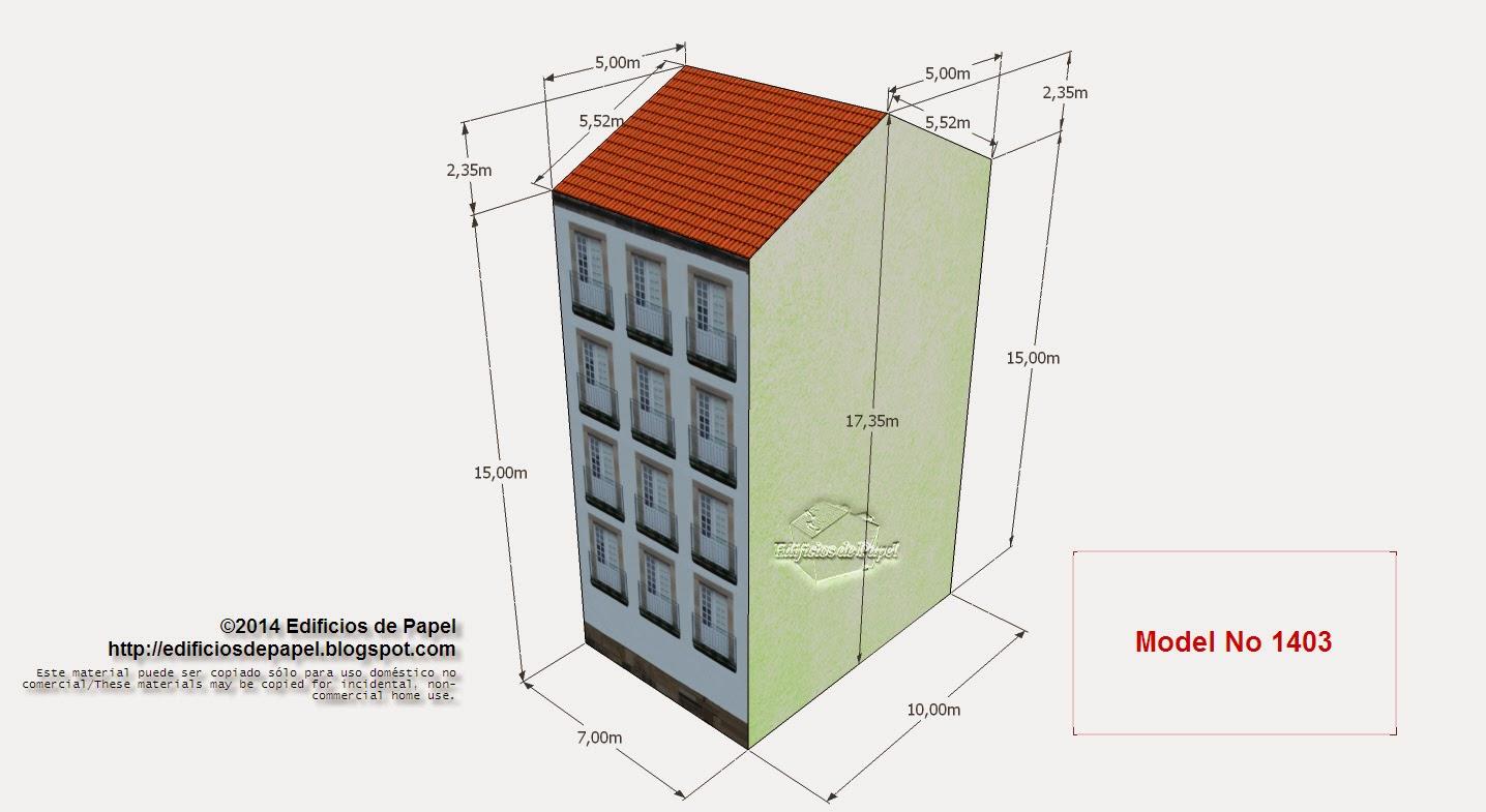 Edificios de Paper - Edificio Cervantes - Model No1403