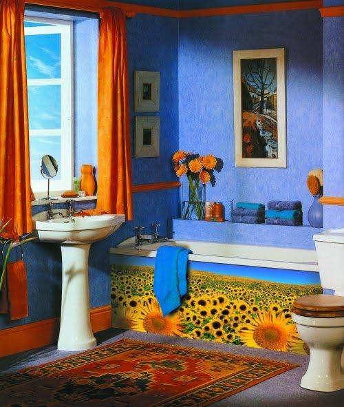 Decoracion De Baños Azules:Buscar siempre contrastes, alegrías y fijarnos en el arco iris