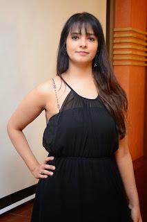 Actress Saloni Aswani Picture Gallery in Black Long Dress at (GAMA) Gulf Andhra Music Awards 2014 Press Meet  11.JPG