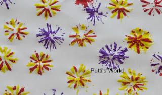 Kids Flower Spring Crafts Straw stamping