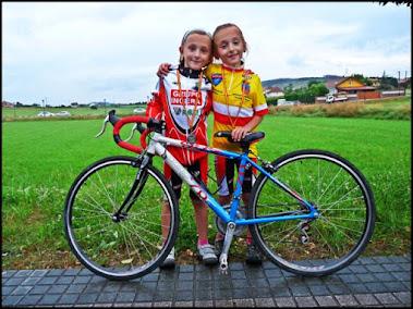 Ariadna ganando su primer Campeonato de Cantabria de Carretera