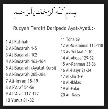 Bacaan Ayat Ayat Ruqyah Berserta Doa Ruqyah Dan Ruqyah Syar