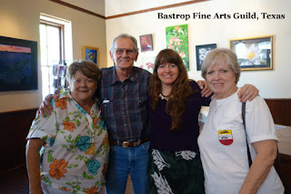 Bastrop Fine Art Guild Artists Peggy, Mike, Kelly, and Myrlene