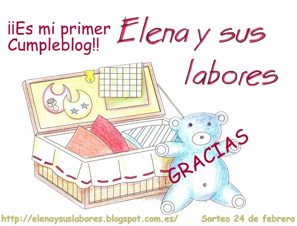 Primer Cumpleblog Elena y sus labores