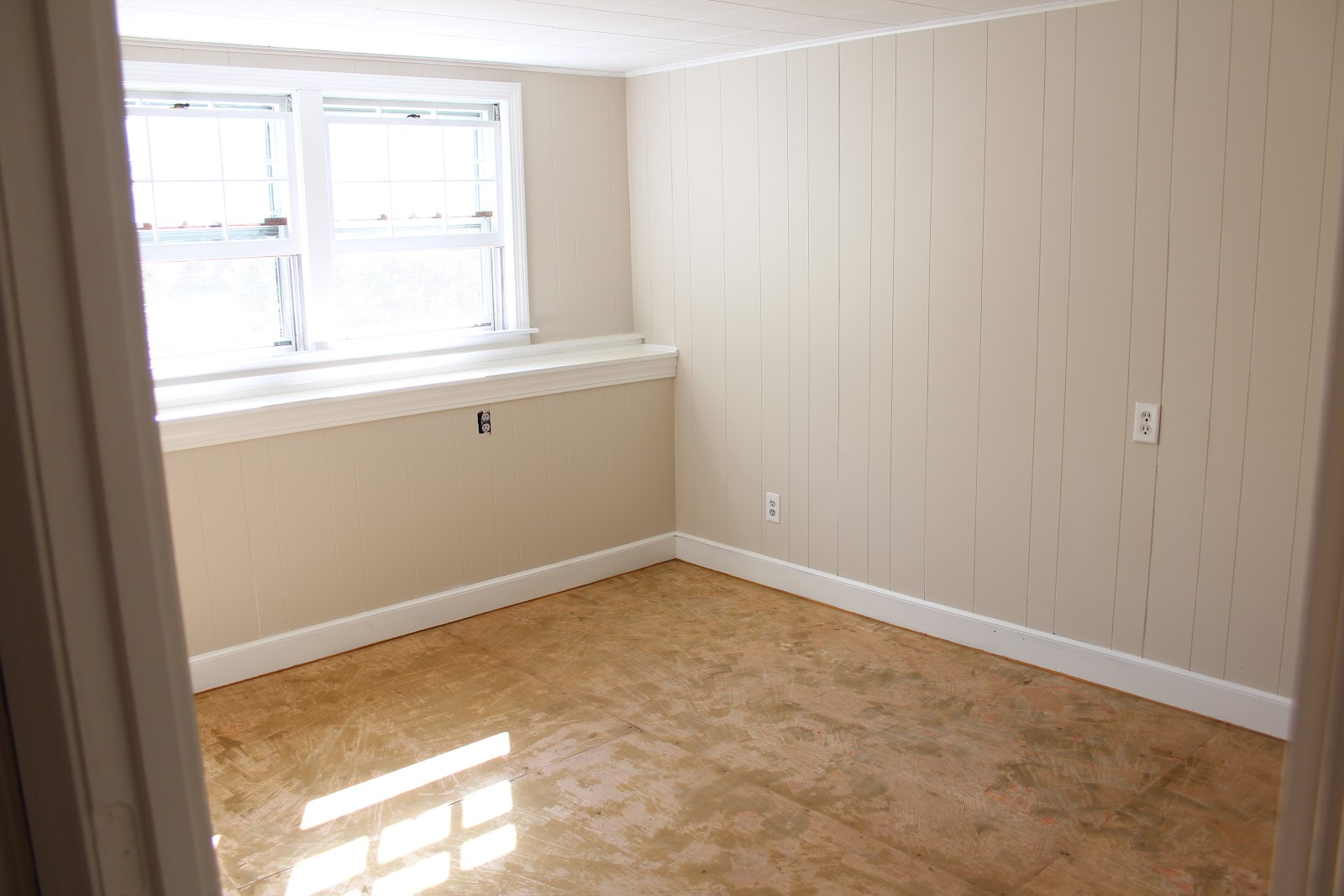 Painting over wood paneling before and after Can you paint wood paneling