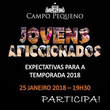 CAMPO PEQUENO 25- 01 2017. COLOQUIO PARA JOVENS AFICCIONADOS.