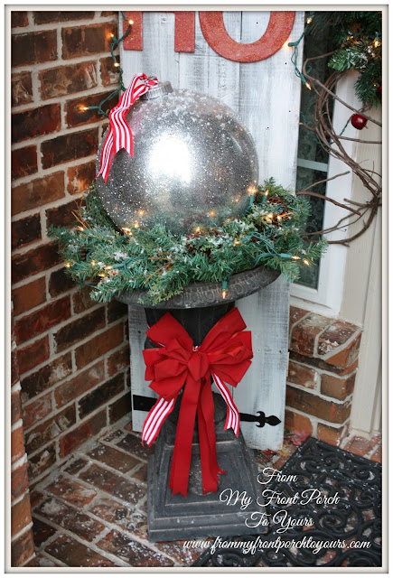 DIY Gazing Ball Christmas Ornament