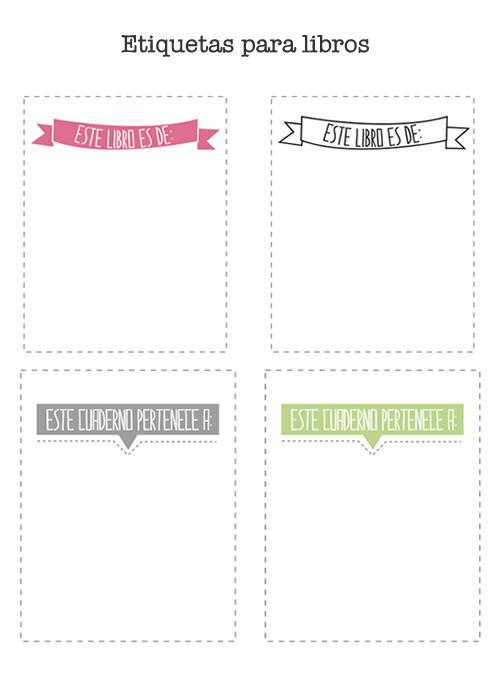 Etiquetas escolares para cuadernos de secundaria - Imagui