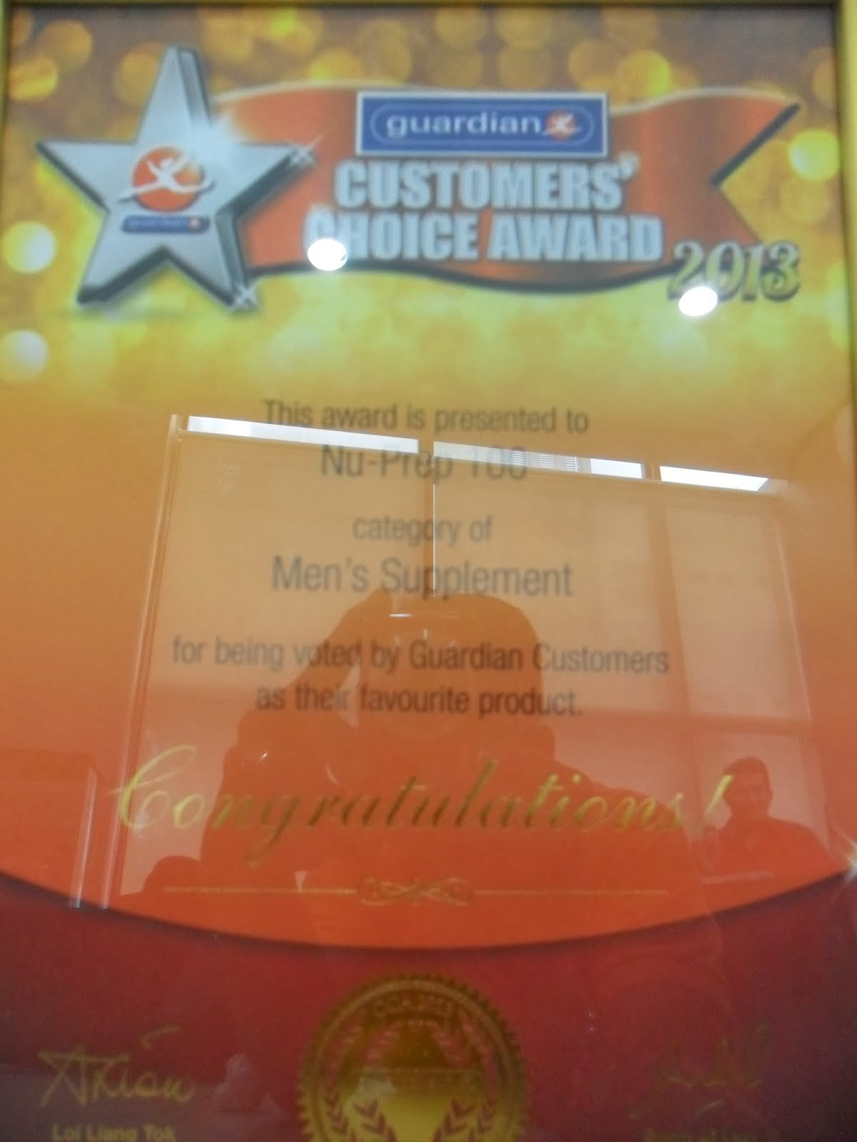 """Customer Award 2013"" Category MEN SUPPLEMENT."