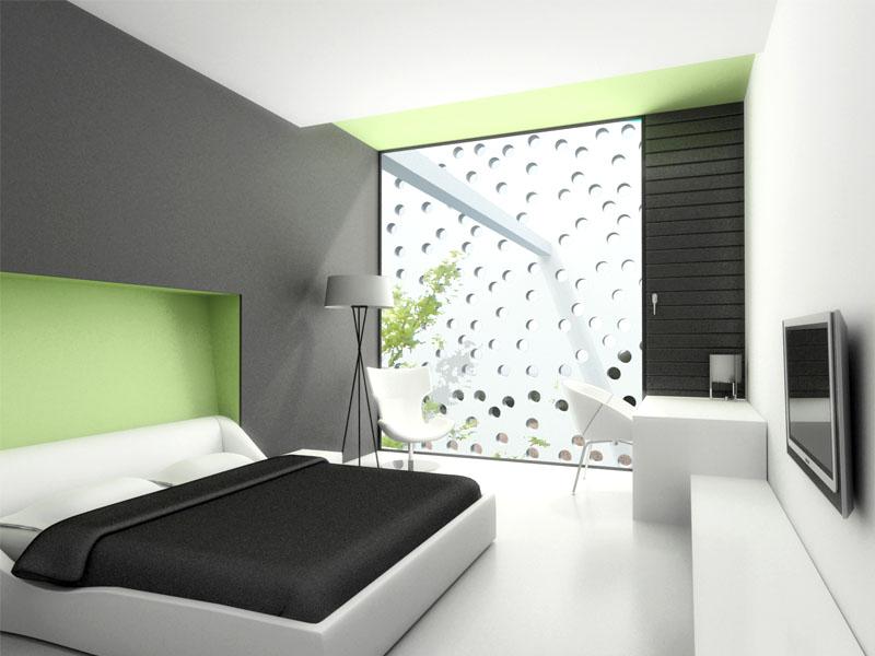 desain dan warna cat kamar tidur utama minimalis share