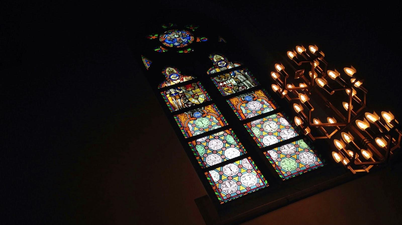 Gustav Adolfskyrkan fönster taget inifrån. Foto: Karin Lönnå