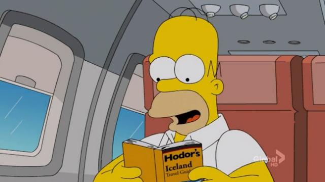 Homer Hodor islandés - Juego de Tronos en los siete reinos