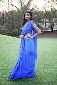 Neelam Upadhyay pics in Blue saree-thumbnail-13