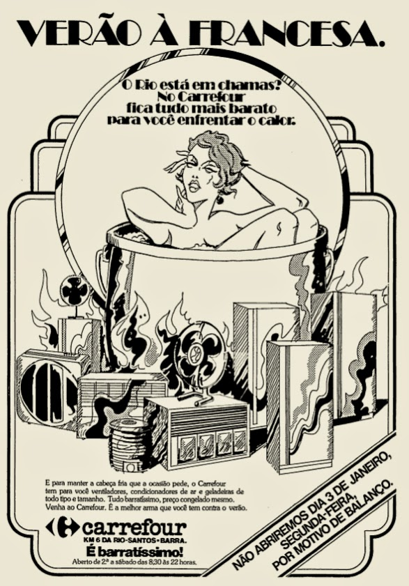 Carrefour.  década de 70. os anos 70; propaganda na década de 70; Brazil in the 70s, história anos 70. Oswaldo Hernandez;