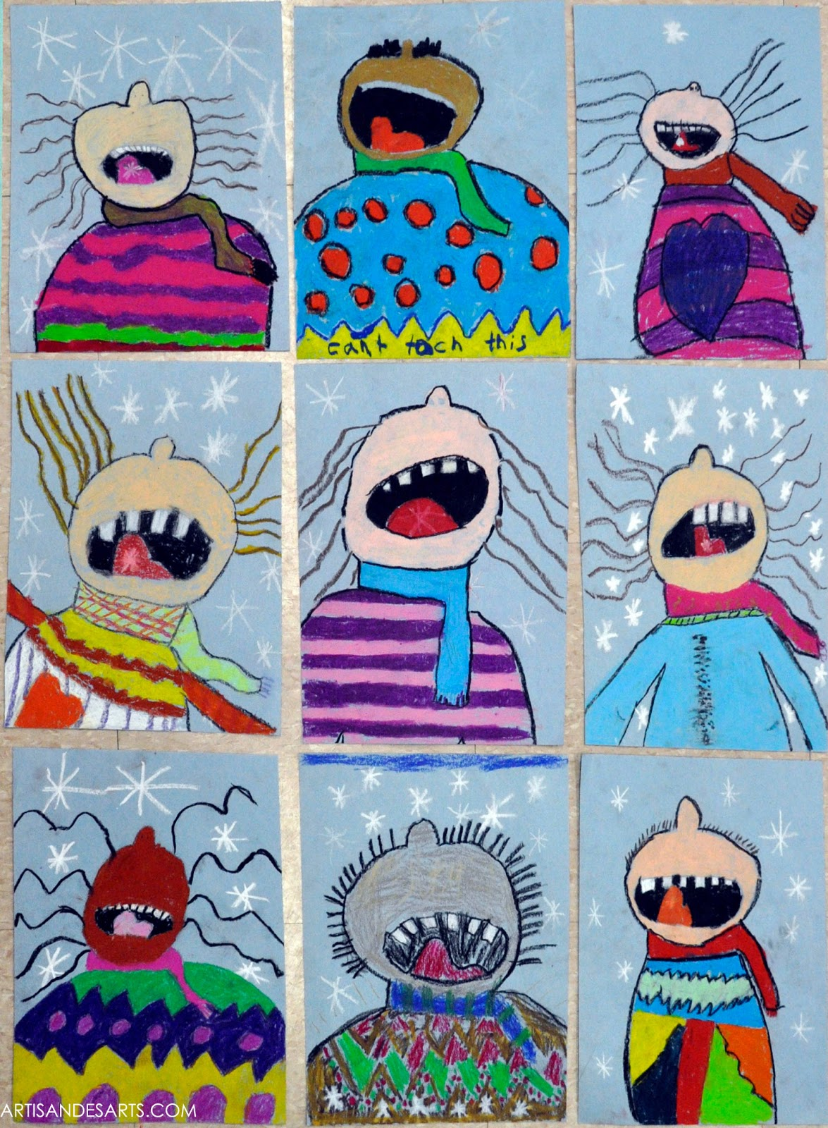 Artisan des arts catching snowflakes grade 3 for Crafts for 3rd graders